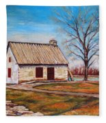 Ile Perrot House Fleece Blanket