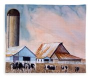 Illinois Farm Fleece Blanket