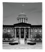Illinois Old State Capital Building Fleece Blanket