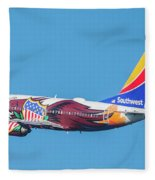 Illinois One Departing Dca Fleece Blanket
