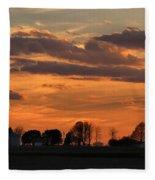 Illinois Sunset Strip IIi Fleece Blanket