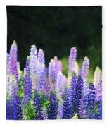 Illuminated Lupines Fleece Blanket