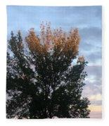 Illuminated Tree Top Fleece Blanket