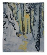 Illuminated Wilderness Fleece Blanket
