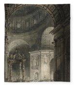 Illumination Of The Cross In St. Peter's On Good Friday, 1787 Fleece Blanket