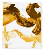 Illusions In Gold Fleece Blanket
