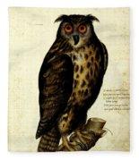 Illustration For A Book By Ulisse Aldrovandi Fleece Blanket
