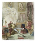 Illustration From Visitation Of A London Exquisite To His Maiden Aunts In The Country Fleece Blanket