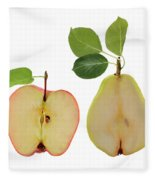 Illustration Of Apple And Pear Fleece Blanket