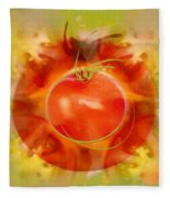 Illustration Of Tomato Fleece Blanket