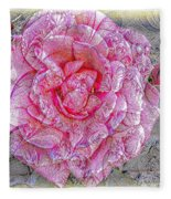 Illustration Rose Pink Fleece Blanket