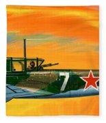 Ilyushin II 2m3 Russian Ground Attack Aircraft Fleece Blanket