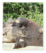 Give Me A Minute, I Know I Can Rollover Fleece Blanket