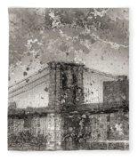 Im Selling The Brooklyn Bridge Or At Least A Photo Of It  Fleece Blanket