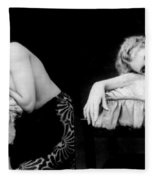 Im Too Tired, Nude Model, 1928 Fleece Blanket