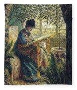 Image 348 Claude Oscar Monet Fleece Blanket