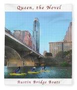 Image Included In Queen The Novel - Austin Bridge Boats Enhanced Poster Fleece Blanket