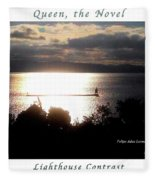 Image Included In Queen The Novel - Lighthouse Contrast Enhanced Poster Fleece Blanket