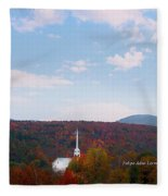 Image Included In Queen The Novel - New England Church Enhanced Fleece Blanket