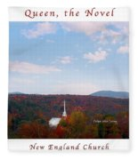 Image Included In Queen The Novel - New England Church Enhanced Poster Fleece Blanket
