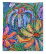 Imaginary Flowers Fleece Blanket
