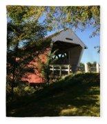 Imes Covered Bridge-winterset Fleece Blanket