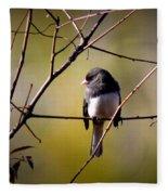 Img_0001 - Dark-eyed Junco - Snowbird Fleece Blanket