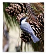 Img_0215-022 - Carolina Chickadee Fleece Blanket