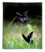 Img_1521 - Butterfly Fleece Blanket