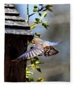 Img_1753-001 - Eastern Bluebird Fleece Blanket