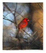 Img_2866-001 -  Northern Cardinal Fleece Blanket