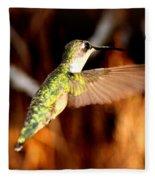 Img_4625 - Ruby-throated Hummingbird Fleece Blanket