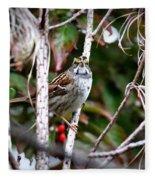 Img_6624-002 - White-throated Sparrow Fleece Blanket