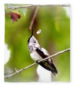 Img_7436-020 - Ruby-throated Hummingbird Fleece Blanket