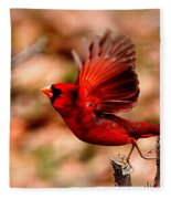 Img_8892 - Northern Cardinal Fleece Blanket