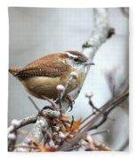 Img_9256 - Carolina Wren Fleece Blanket