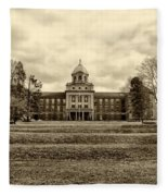 Immaculata University In Black And White Fleece Blanket