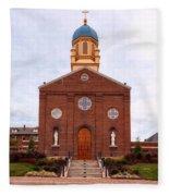 Immaculate Conception Chapel - University Of Dayton Fleece Blanket