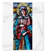 Immaculate Heart Of Mary Fleece Blanket