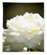 Immaculate Rose Fleece Blanket