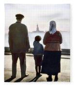 Immigrants: Ellis Island Fleece Blanket