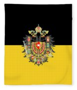 Habsburg Flag With Imperial Coat Of Arms 1 Fleece Blanket