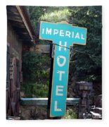 Imperial Hotel Sign In Cripple Creek Fleece Blanket