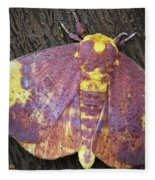 Imperial Moth Fleece Blanket
