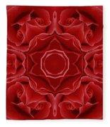 Imperial Red Rose Mandala Fleece Blanket