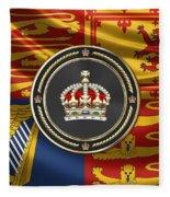 Imperial Tudor Crown Over Royal Standard Of The United Kingdom Fleece Blanket