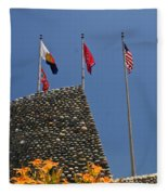 Imposing Flags Fleece Blanket