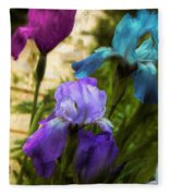 Impossible Irises Fleece Blanket