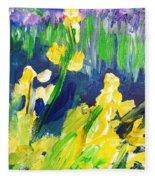 Impression Flowers Fleece Blanket
