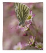 Impression With A Small Butterfly Fleece Blanket